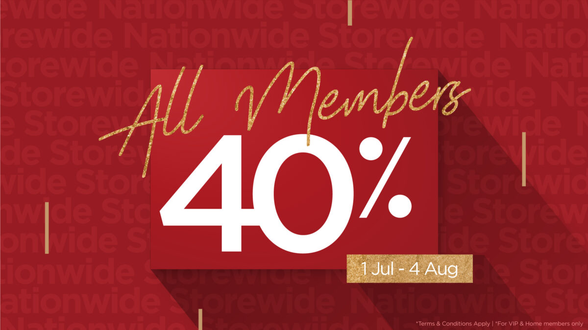 40% off in all SSF showrooms nationwide