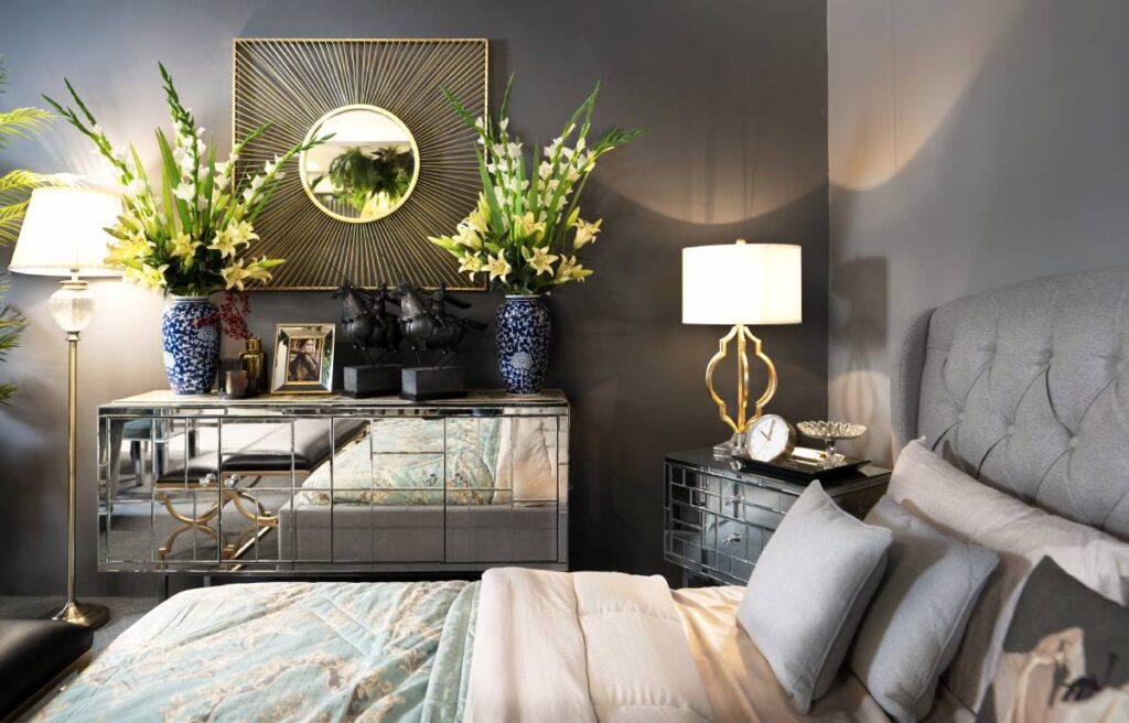 Establish an edgy look to your home with metallics!