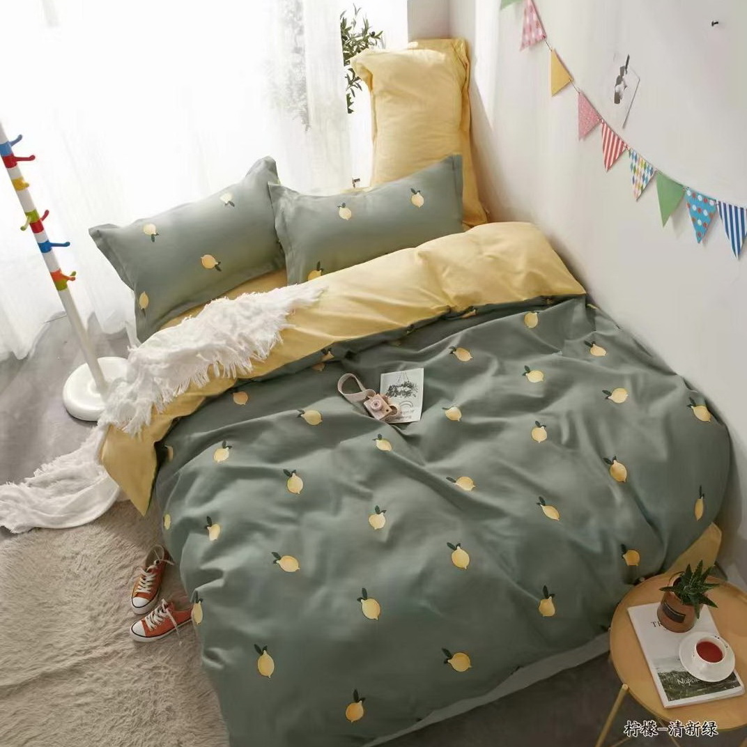 Bedsheets your kids will love: double sided lemon sheets!