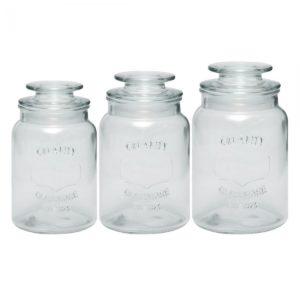 SSF CONSELLO 3PCS GLASS CANISTER KCTZTG160405