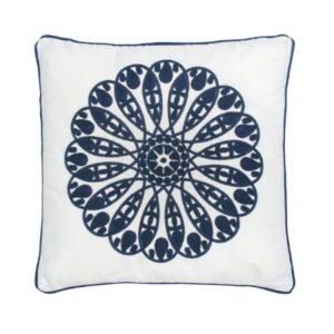Cerah Geometric Square Cushion . White . BBLKVT161005WH