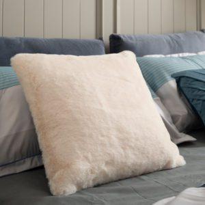 Kim Fluffy Square Cushion . Coral . BBLSCH190801CR