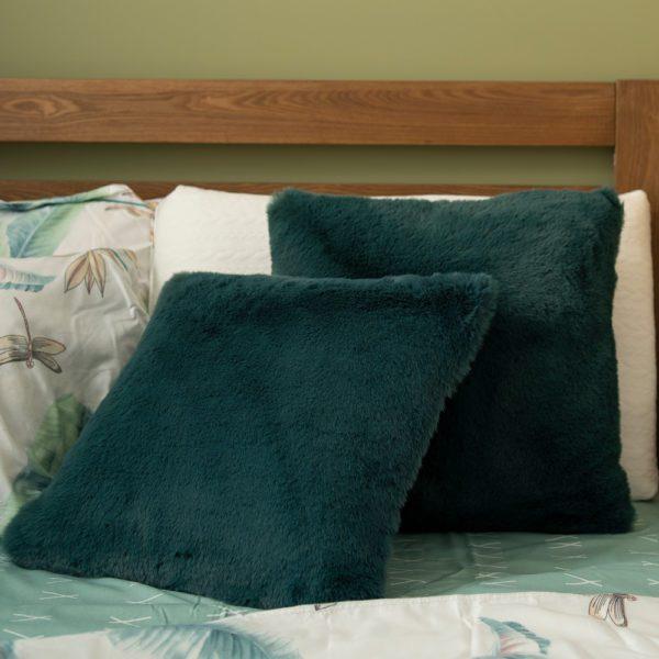 Kim Fluffy Square Cushion . Turquoise . BBLSCH190801TQ