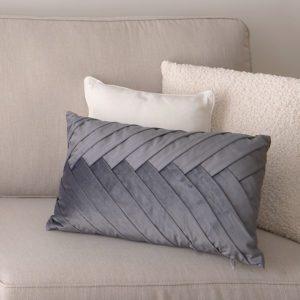 Chase Pleated Cushion - Grey . BBLTSH190604GY
