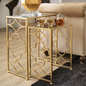 Nesting Side Table . Gold . FCOATQ161004