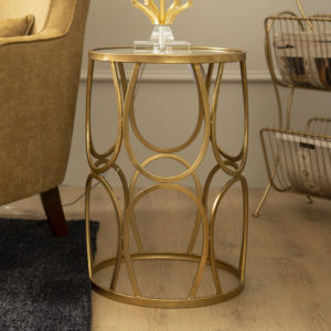 Emas Gold Side Table . Large . FCOHBA150606L
