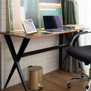 Jessie Elegant Desk . Black . FOTZFT191008BK