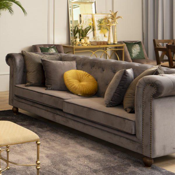 3 Seater Sofa . Dark Grey . FSOFLD170327DG