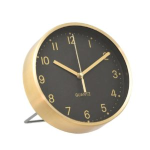 SSF ROUND TABLE CLOCK (GOLD BLACK) QCKEST180906GB