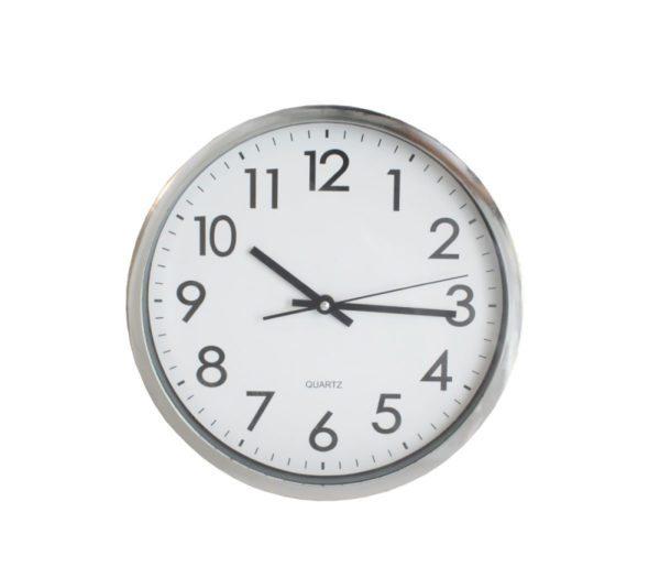 SSF WALL CLOCK QCKQHE190410WH